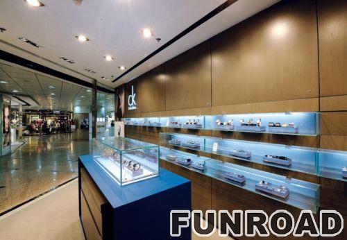 蓝色手表商店展示柜效果图