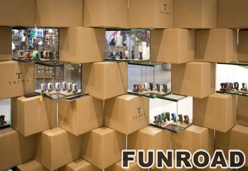 品牌手表商店陈列和装饰设计效果图