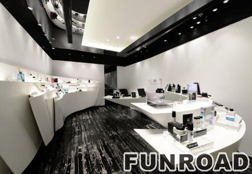 奢侈化妆品专卖店专业的MDF丙烯酸化妆品展示柜-购物中心