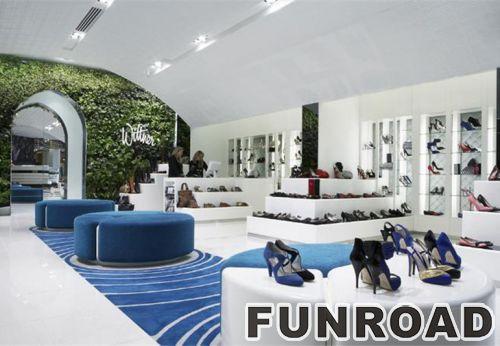 Fahional鞋店展示柜壁挂式鞋子展示架