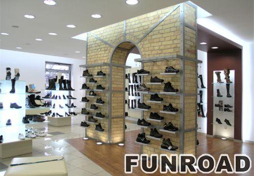 运动鞋展示柜玻璃壁挂式展示架