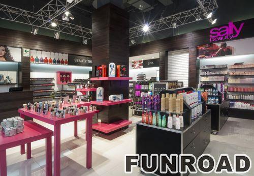现代的零售家具木化妆品展示柜