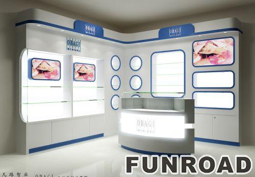 购物商场中岛玻璃展示柜设计制作