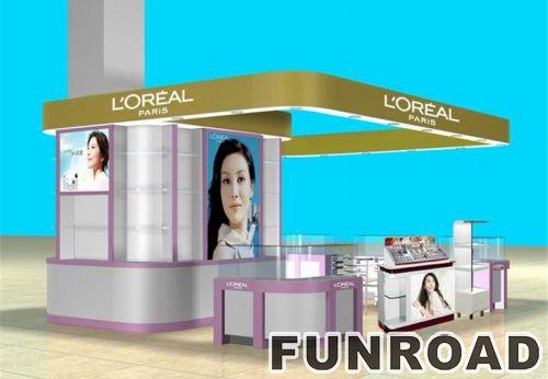 商场吊顶化妆品柜台设计制作