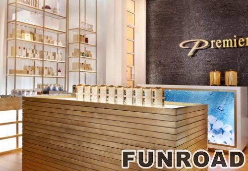 木化妆品展示香水商店化妆品陈列展示柜
