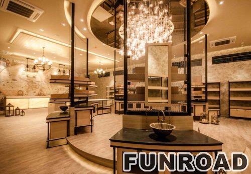 商场展示柜家具香水玻璃陈列柜设计效果图