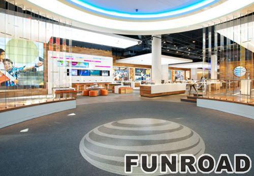 LED照明玻璃显示柜移动零售商店化妆品展示柜效果图
