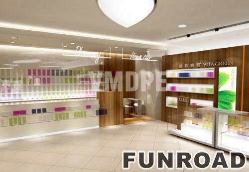 化妆品零售家具玻璃展示柜