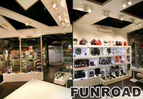 时尚鞋店室内装饰LED照明展示柜陈列架