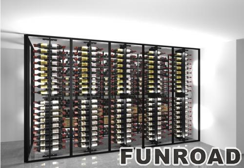 FRZJ-2019101903公司红酒展厅酒架设计制作图