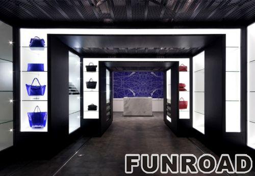 LED灯手提包商店木质烤漆展示柜