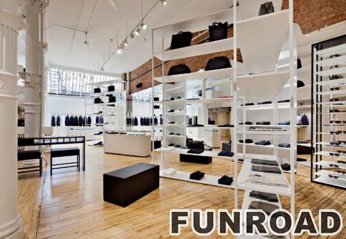 手提包商店定制木质烤漆展示柜钱包展示柜台