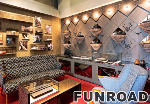 时尚鞋店室内展柜设计LED照明展示柜