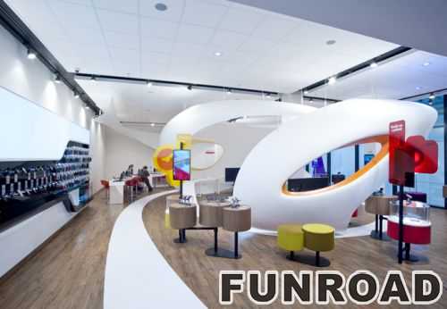 ... Cell Phone Concept Store Interior Decoration With Unique Display  Furnitures ...