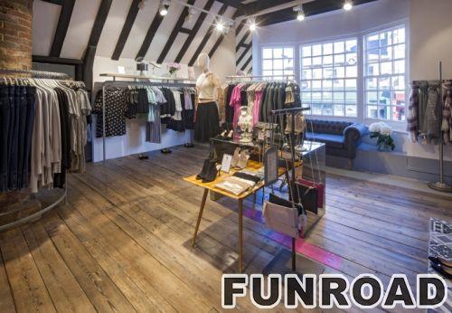 高端服装店设计木制商业展柜玻璃陈列柜