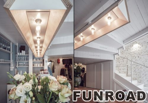 独特的木质展示架和服装店室内设计展示柜