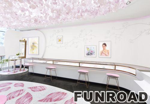 简约白色烤漆漆玻平柜组合珠宝展柜