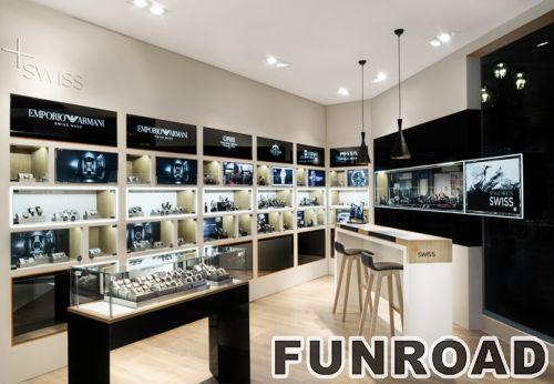 商场一楼珠宝展柜平面图