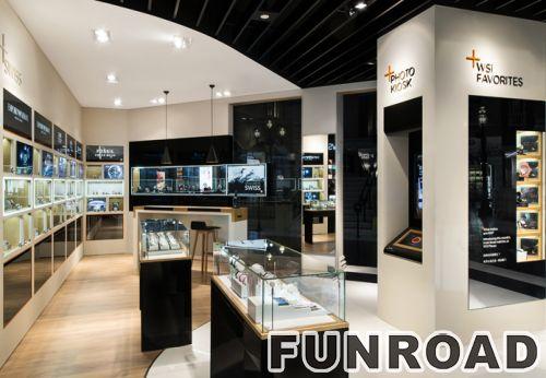 零售手表商店陈列室展柜设计效果图