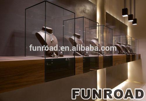珠宝陈列柜的高端木柜台