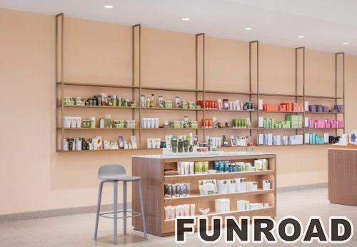 为化妆亭展示定制的时尚展柜