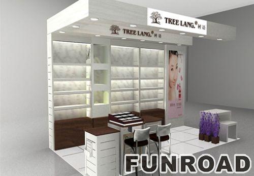 时尚设计化妆品柜台展示亭