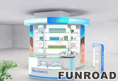 美容化妆品展示站展示柜设计效果图