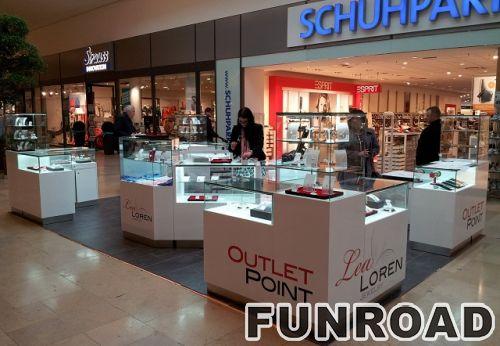 购物中心kosk展示珠宝,购物中心的珠宝展柜,珠宝陈列展示家具