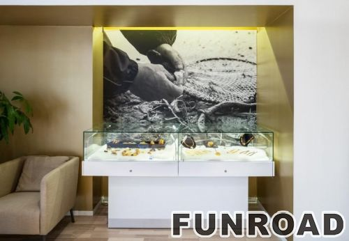 镶面MDF显示器珠宝展柜