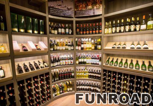 酒柜定做商场白葡萄酒展示架设计效果图