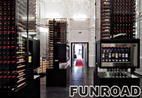 酒柜定做公司红酒展示柜解决方案