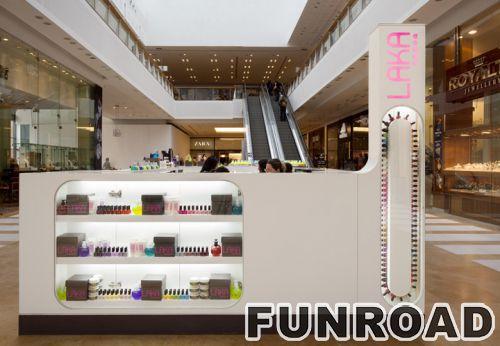 为购物商场提供竞争性价格白色化妆品展柜