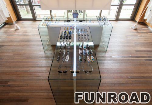 万宝龙有机玻璃眼睛店展示柜设计制作