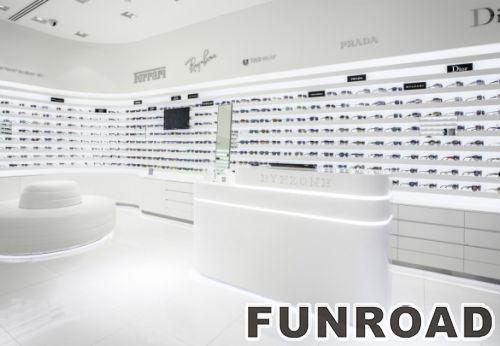 诗乐眼镜店展示柜,展示架设计制作