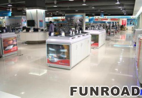 深圳展柜厂白色烤漆手机展示柜台