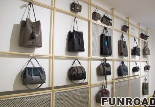 Custom Shopping Mall Display Stand Mall Center Handbag Tower