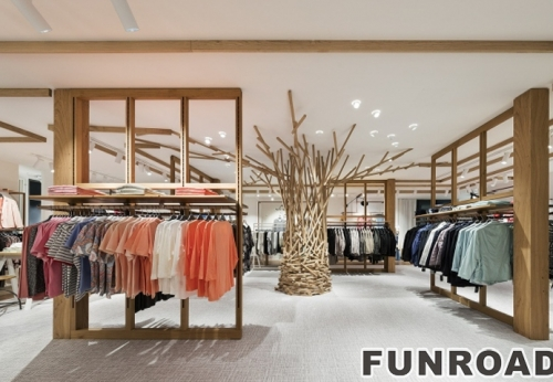 Boutique furniture for clothing shop.