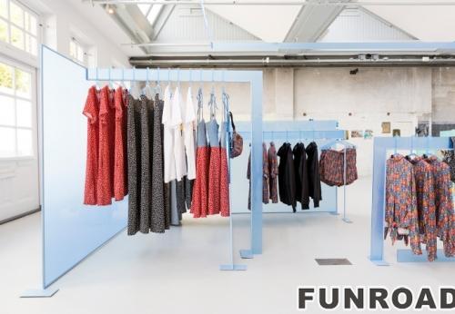 女士服装展示架和吊架设计,服装店面设计