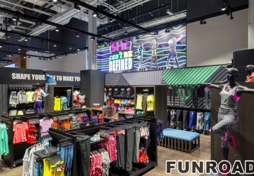 品牌运动鞋零售店定制木制商业展示柜陈列柜