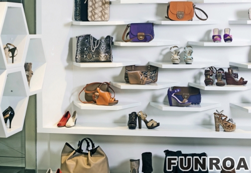 Retail Shoes Shop Interior Design Wooden Sneakers Display Cabinet ...