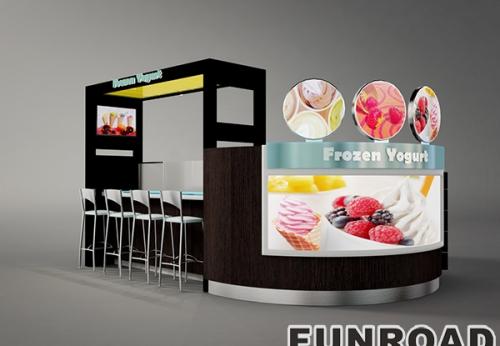 FLTG005有机玻璃糖果展示柜柜台