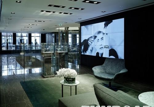 豪华手表店的室内设计效果图,手表展柜
