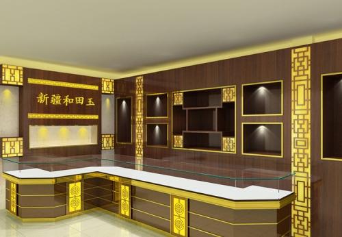 新疆和田玉珠宝展示柜制作