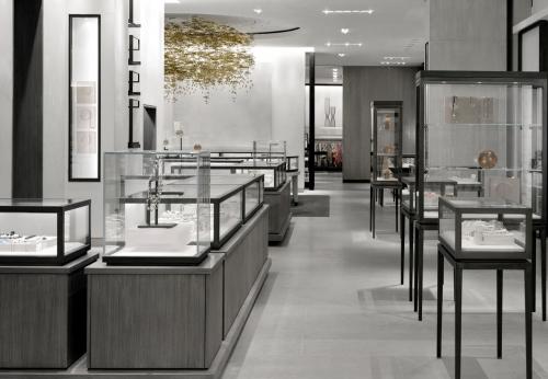 20年工厂提供木质珠宝店设计
