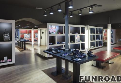 迪拜体育用品现代鞋店柜台设计