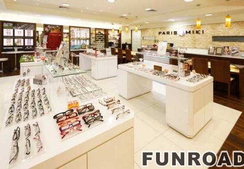 近视眼镜店整店展示柜展示架设计制作