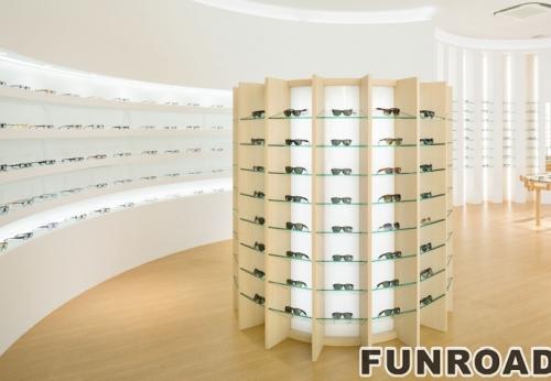 不锈钢玻璃眼睛展示柜,眼睛展示架设计制作