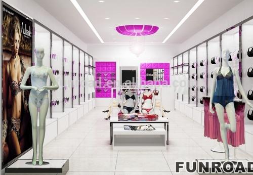 现代时尚内衣展示架谁服装店室内设计制作