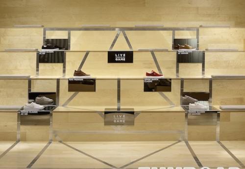 鞋子店设计贴面木制展示柜基座鞋展示架