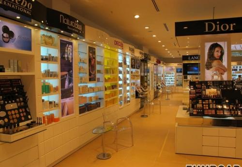 品牌化妆品展柜 烤漆彩妆化妆品展示柜